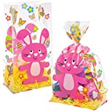 Baker Ross Easter Bunny Cellophane Bags (Pack of 30) Ideal For Kids Easter Parties and Treats