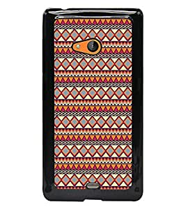 PrintDhaba Tribal Pattern D-5423 Back Case Cover for MICROSOFT LUMIA 540 (Multi-Coloured)