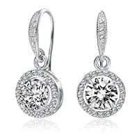 Mestige MSER3136 Women's Rhodium Plated Crystals Drop and Dangle Earrings