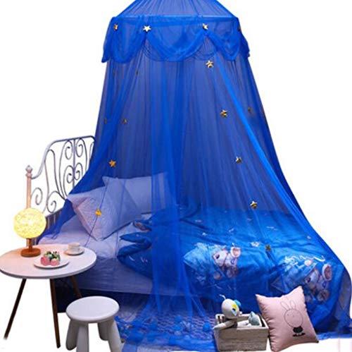 Garn Moskitonetz Betthimmel Dome Prince & Princess Zelt Moskitonetz for Kinderbetten, Raumdekorationen, Geschenke (Color : Blue) -