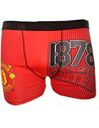 1 paire Boxers Trunks Taille de Manchester United Football Hommes de S-XL