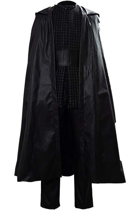 Pelicula Cosplay Kylo Ren Disfraz Disfraz Negro con Capa Ben Solo ...