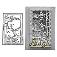 BINGHONG3 Deer Metal Cutting Dies Stencil DIY Scrapbooking Album Stamp Paper Card Embossing Craft Decor