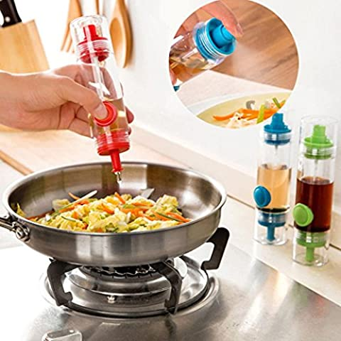 Kitchen Tool! Xshuai®2 in 1 BBQ Condiment Oil Soy Sauce Vinegar Spray Bottle Pump Dispenser Sprayers Economical Convenient