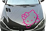 Helloy Kitty Kopf für Motorhaube Aufkleber Autoaufkleber Sticker Auto`+ Bonus Testaufkleber