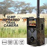 Four Wildtierpfad 5 Megapixel, 1080P Game Hunting Camera IR-LEDs Motion Activated Upgraded Night Vision up IP66 Waterproof for Outdoor Nature