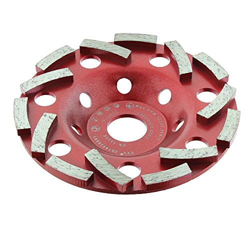 BTEC Twin Speed Extreme Diamant-Schleifteller 125mm x 22,23mm Spezial Anordnung der doppelreihigen Segmente für Beton, Granit, Naturstein, Mauerwerk, Fliesenkleber