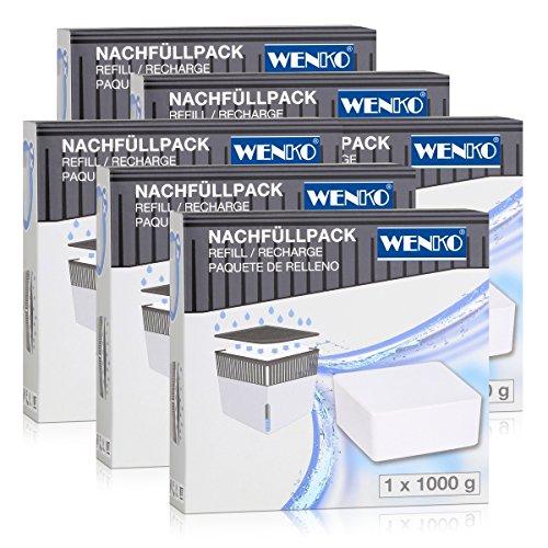 Wenko 50250100 Design Raumentfeuchter Cube Nachfüller 1000g (6er Pack)