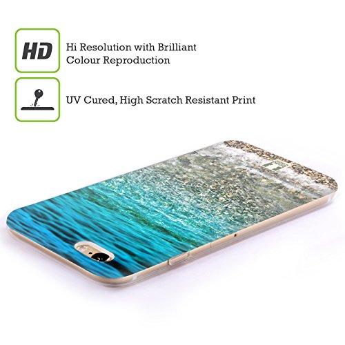 Head Case Designs Tropischer Sandstrand Wundevolle Strände Soft Gel Hülle für Apple iPhone 4 / 4S Transparente Wellen