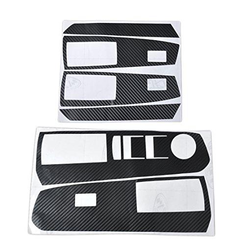 Tür-fenster-handle (Auto Interior Tür Fenster Schalter Karbonfaser Formen Aufkleber Aufkleber)