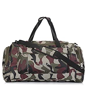 Suntop Alive Large Nylon/Polyester 65 litres/25 inches Duffel Bag for Travel (Bottle Green Colour)