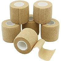 YuMai 5cm Selbsthaftend Bandage, Cohesive Bandage, Pflaster Bandage, Nude - 6 Rollen preisvergleich bei billige-tabletten.eu