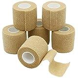 YUMAI 6 Rouleaux de Bandage Cohésive, Gaze Bandage, Bandage Sportif, 5cm x 4.5m -...