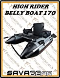 Savage Gear High Rider Belly Boat 170 – Belly Bateau à filer & mouche du Bateau, bateau, bellyboat, Belly Bateau intelligents
