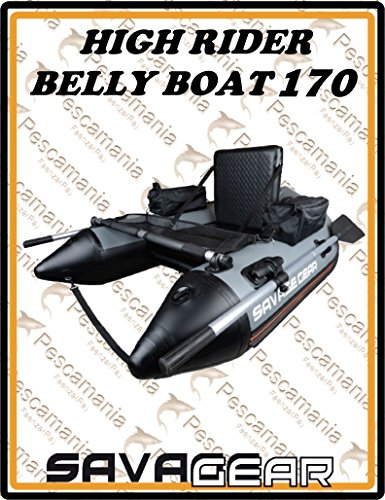 Savage Gear High Rider Belly Boat 170 - Bellyboat zum Angeln, Mini-Schlauchboot, Bellyboot, Belly Boot