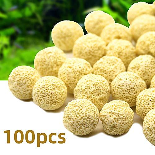 100PCS Bio Balls Fisch Tank Filter Biokugeln,Aquarium Filtermedien Ball Aquarium Bio Ball für Aquarium Filter -