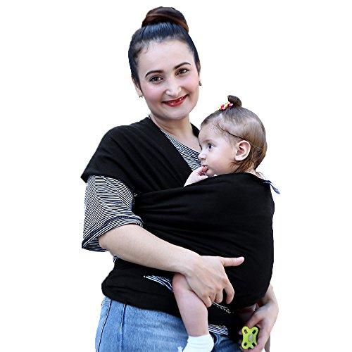 NPET Babytragetuch /babytragetuch neugeborene- Tragetuch für Früh & Neugeborene Kleinkinder- 95% Baumwolle , 4 Farben vorhanden(Enthält die Bedienungsanleitung)