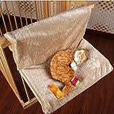 Hoopet® 46x30x25CM Katzenmulde Katzensofa Liegebett Katzenhängematte für bis 5kg Haustier Beige