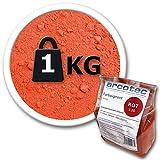 @tec Farbpigmente für Beton, Gips, Putz - Pigmentpulver, Eisenoxid, Oxidfarbe, Trockenfarbe - 1kg - Farbe: rot