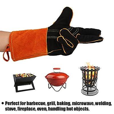 Asixx Premium Ofenhandschuhe, BBQ Grillhandschuhe Set Hitzebeständig, Kochhandschuhe Hitzerbeständige Handschuhe für BBQ,Kochen und Backen, 1 Paar