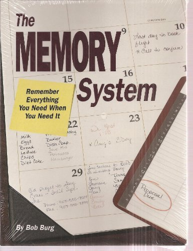 The Memory System by Bob Burg (1992-08-02)