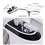 RioRand Non-Electric Intelligent Mechanical Bidet Toilet Attachment ,Hot & Cold Water Dual Nozzles Self-Cleaning Retractable Water Jet -Black