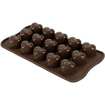 FamilyMall(TM) Heart-shape Silicone Ice Chocolate Cake Jelly Candy Mould Mini Tray Pan Cube (Heart-shape)