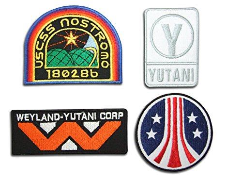 Alien Film Sulaco Weyland Nostromo USCM Colonial Marines Eagle Crew [4Patch Set] ()