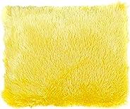وسادة القطيفة 45 × 45 سم من ترف-أصفر