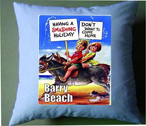 10678haben einen Smashing Urlaub bei Barry Beach Retro Shabby Chic Kissenbezug -