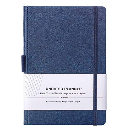 Pianificatore non aggiornato con adesivi per pianificatore 2019-2020 - agenda settimanale/mensile/annuale - 4 settimane 1 pagina per mese, carta spessa, tasca interna, a5 - lemome