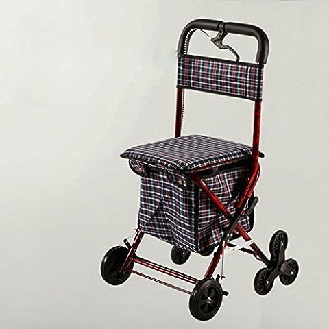 Compras de hierro de carro personas mayores a comprar alimentos puede ser empujan ocio plegable plegable ayuda , jxa002 wine red