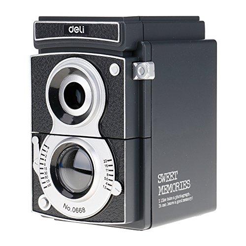Anspitzer in Form einer Fotokamera, mit manueller Kurbel