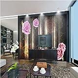 Meaosy Moderne Tapeten Für Wände 3D Wandbilder Hellgraue Streifen Wandpapiere Für Wohnzimmer Home Decor Blumen Marmor Fototapeten-120X100cm