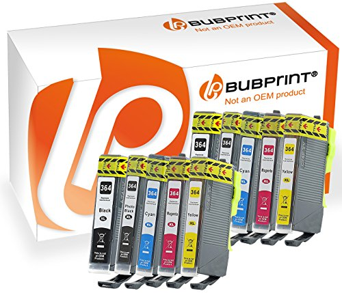 10 Bubprint Druckerpatronen kompatibel zu HP 364XL 364 XL HP Photosmart 5520 5510 6520 7520 DeskJet 3520 3070A OfficeJet 4620