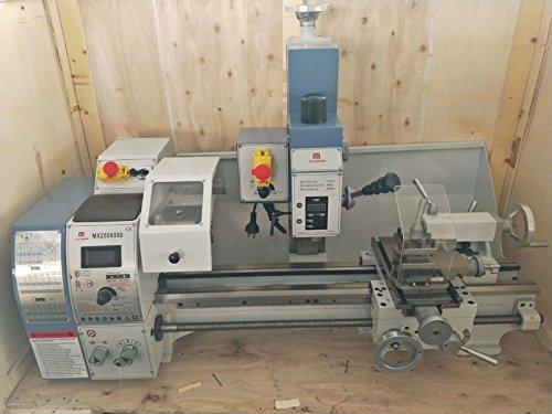 BananaB 750W Dreh-Fräsmaschine 550 * 250MM Milling Machine Fräser Machine Tuning, Mahlen und Bohren Alles in einem Drehbank Miller Fräsmaschine