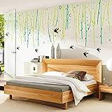 Lifme Neuer Weidenbaum Schluckt Wohnzimmerhaushaltsverzierungs-Wandaufkleber An Der Wand