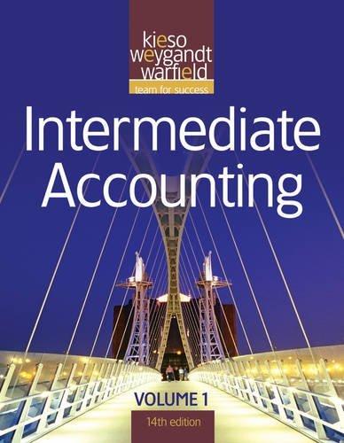Intermediate Accounting (Volume 1) by Donald E. Kieso (2011-03-15)