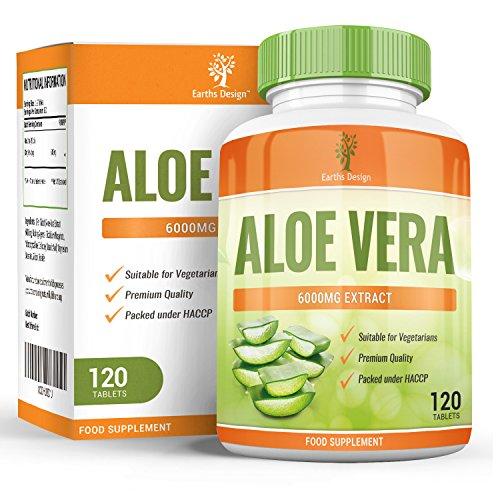Aloe Vera - Comprimés d'Aloe 6000mg - Complément à Dosage Maximum pour Hommes et Femmes, Recevez...