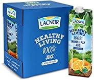 Lacnor Healthy Living Orange Juice - 1 Litre (Pack of 6)
