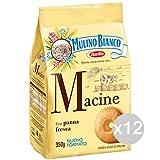 Mulino Bianco Set 12 Biscotti Macine Gr 350 Per Colazione E Merenda