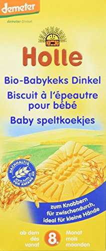 Holle Bio-Babykeks Dinkel, 3er Pack (3 x 150 g)