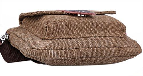 Genda 2Archer Annata Piccolo Tela pacchetto di Fanny Viaggi Marsupio Purse Hip Belt Bag Bum Borsa (Caffè) Caffè