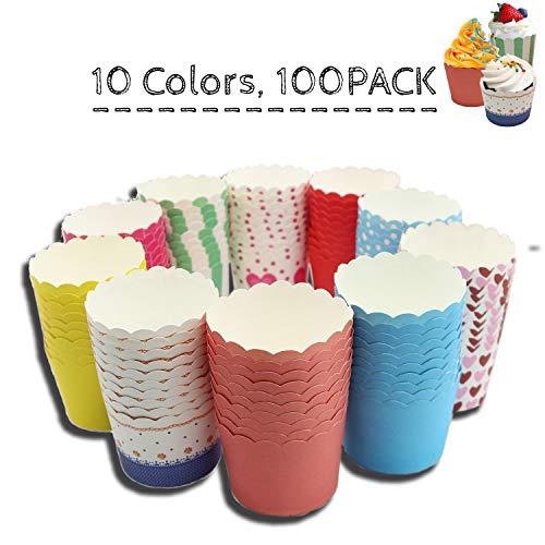 Weekend&Lifecan Muffin Förmchen Papier,Cupcake Formen Papier, muffinförmchen,Cupcake Formen,Cupcakes papierförmchen,Muffin förmchen Papier (100 Stück)