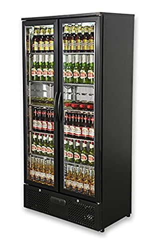Capital Platinum 500 Double Door Upright Bar Chiller - Black