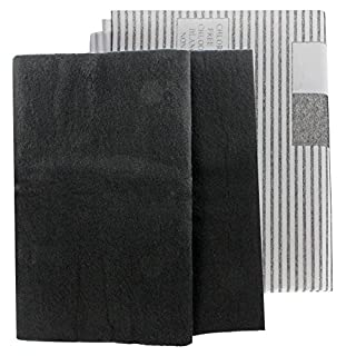 SPARES2GO Large Universal Cooker Hood Grease Filters for Vent Extractor Fans (2 x Filter, Cut to Size - 100cm)