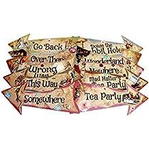 ASVP Shop® - Set di 10 cartelli a freccia a tema Alice nel Paese delle b33d4eeaf5e6