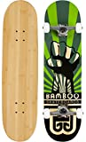Skateboards Bamboo 21 cm Power Graphic komplett Skateboard Bambus
