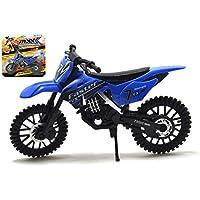 MXX Azul Motocross moto Modelo a escala moto de juguete moto MXS Moto de juguete