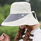 Verano femenino lente sombrero para el sol Plegable sombrero para el sol Anti-UV Grandes aleros Sombrero de playa ( Color : 2 )